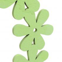 Ghirlanda di fiori in legno verde Ø35cm 1pz