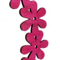 Ghirlanda di fiori in legno rosa Ø35cm 1p