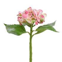 Ortensia rosa nevicato 33cm 4 pezzi