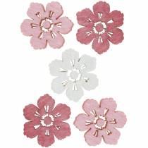 Fiori di ciliegio sparsi, fiori primaverili, decorazioni per la tavola, fiori di legno per spargere 144St