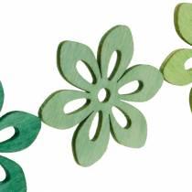 Fiori sparsi verdi, decorazioni primaverili, fiori di legno da spargere, decorazione della tavola 72 pezzi
