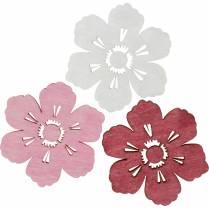 Fiori in legno fiori di ciliegio, decoro primaverile cosparso, decorazione tavola, fiori da cospargere 72 pezzi