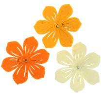 Fiore in feltro sulla clip 7 cm 24 pezzi
