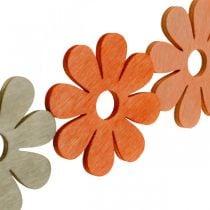 Fiori per spolverare arancia, albicocca, spolverata marrone in legno decorativo 72 pezzi