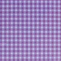 Carta floreale 37,5 cm a quadri viola 100 m