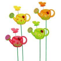 Annaffiatoio con tappo a fiori colorato decorazione a molla con tappo da giardino 16 pezzi