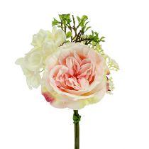 Mazzo mini crema rosa 20 cm