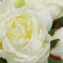 Bouquet Peonie Bianco L30cm