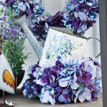 Annaffiatoio vaso di fiori ortensia decorazione da giardino fioriera in metallo 15 cm