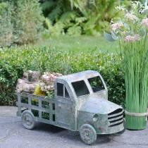 Camion vaso di fiori grigio zinco, verde 42 × 17,5 × 19,5 cm