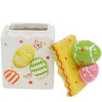 Scatola di caramelle Pasqua gialla 13,5 cm