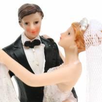 Decorazione matrimonio sposa e sposo dipinta a mano H13cm