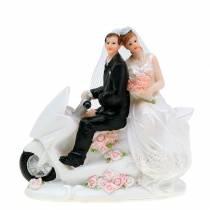 Figura di sposi su moto 12 cm