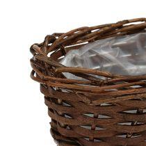 Cestino per il pane ovale non pelato 20 cm H8 cm
