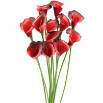 Calla rosso bordeaux fiori artificiali in mazzo 57cm 12pz