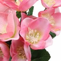 Bouquet Christmas Rose Pink 29cm 4 pezzi
