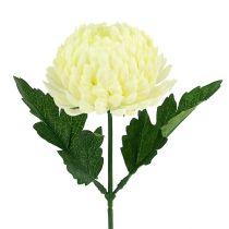 Crema di crisantemo artificiale Ø7cm L18cm