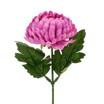 Crisantemo Rosa artificiale Ø7cm L18cm