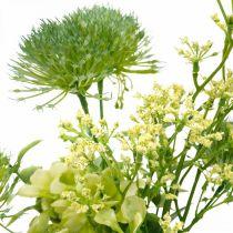 Fiori di seta, bouquet artificiale, decorazione floreale con cardi 40 cm