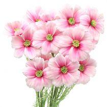 Cosmea rosa artificiale 77cm 3 pezzi