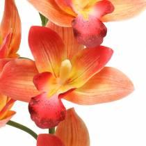 Orchidea fiore artificiale Cymbidium Orange 74cm