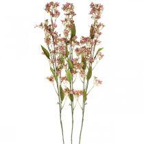 Ramo decorativo con fiori rosa artificiale Daphne ramo 110cm 3 pezzi