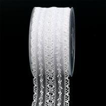 Pizzo Nastro regalo per la decorazione 55mm 20m bianco
