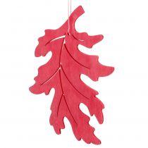 Foglie decorative in legno per appendere colorate 12 cm 9 pezzi