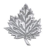 Foglie decorative di seta 5 cm argento 60 pezzi
