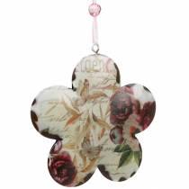 Fiore decorativo per appendere peonie decorazione a molla in metallo nostalgico 4 pezzi