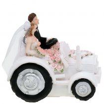 Coppia di sposi Deco su trattore H10cm
