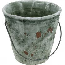 Secchio decorativo, vasca per fiori, secchio in ceramica, aspetto antico, Ø19,5 cm H19 cm