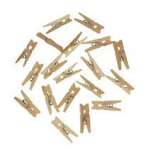Clip decorative in legno 2,5 cm naturale 300 p