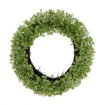 Ghirlanda decorativa verde Ø25cm