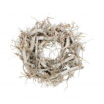 Ghirlanda decorativa natura, grigia Ø35cm 1p
