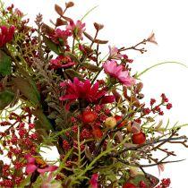 Ghirlanda decorativa con bacche Ø25cm Rosa