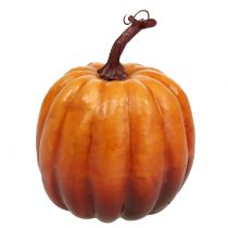 Zucca decorativa arancione 14cm