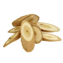 Dischi decorativi in legno ovale 9-12 cm 500 g