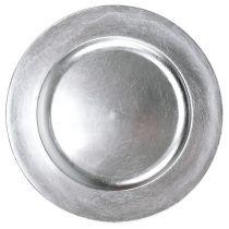 Piatto decorativo argento Ø28cm