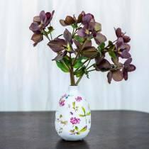Vaso decorativo floreale bianco Ø11cm H17.5cm