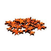 Le stelle in legno mescolano l'arancia per spargere 3-5 cm 72 pezzi