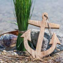 Ciondolo decorativo in legno di ancoraggio natura H14.6cm