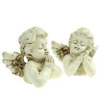 Crema orante decorativa angelo 9 cm 8 pezzi