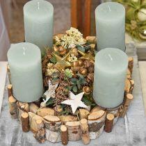 Ghirlanda decorativa ghirlanda in legno di betulla decorazione da tavola Ø30cm H7cm