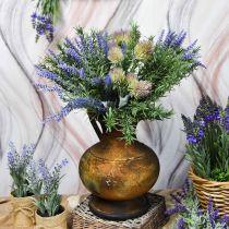 Deco brocca aspetto antico vaso metallo vintage decorazione da giardino H26cm