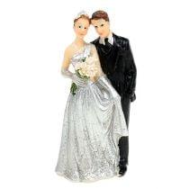 Coppia di sposi in argento 10 cm