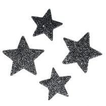 Stelle decorative per spalmare 4-5 cm nero 40 pezzi