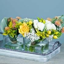 Vassoio decorativo con manici in metallo argento 30 cm / 37 cm / 45 cm set di 3
