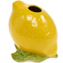 Decorazione vaso di fiori vaso di limone decorazione estiva in ceramica H11.5cm
