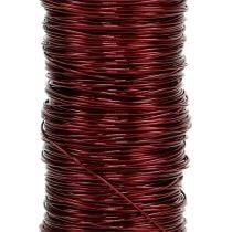 Filo decorativo laccato Ø0,30 mm 30 g / 50 m Bordeaux